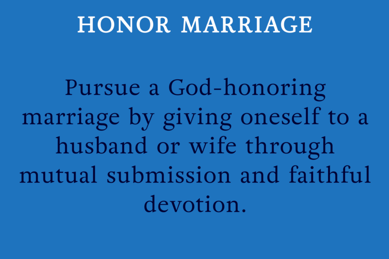 HONOR MARRIAGE